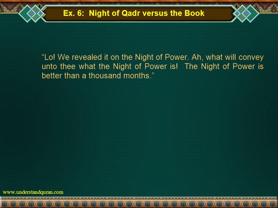 www.understandquran.com Ex. 6: Night of Qadr versus the Book Lo.