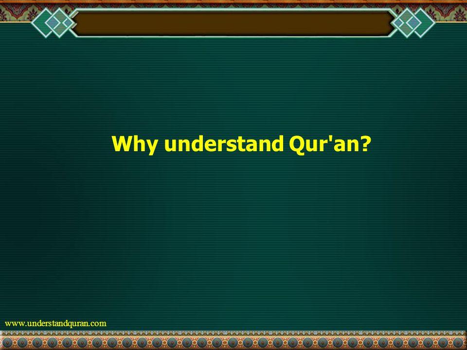 www.understandquran.com Why understand Qur an