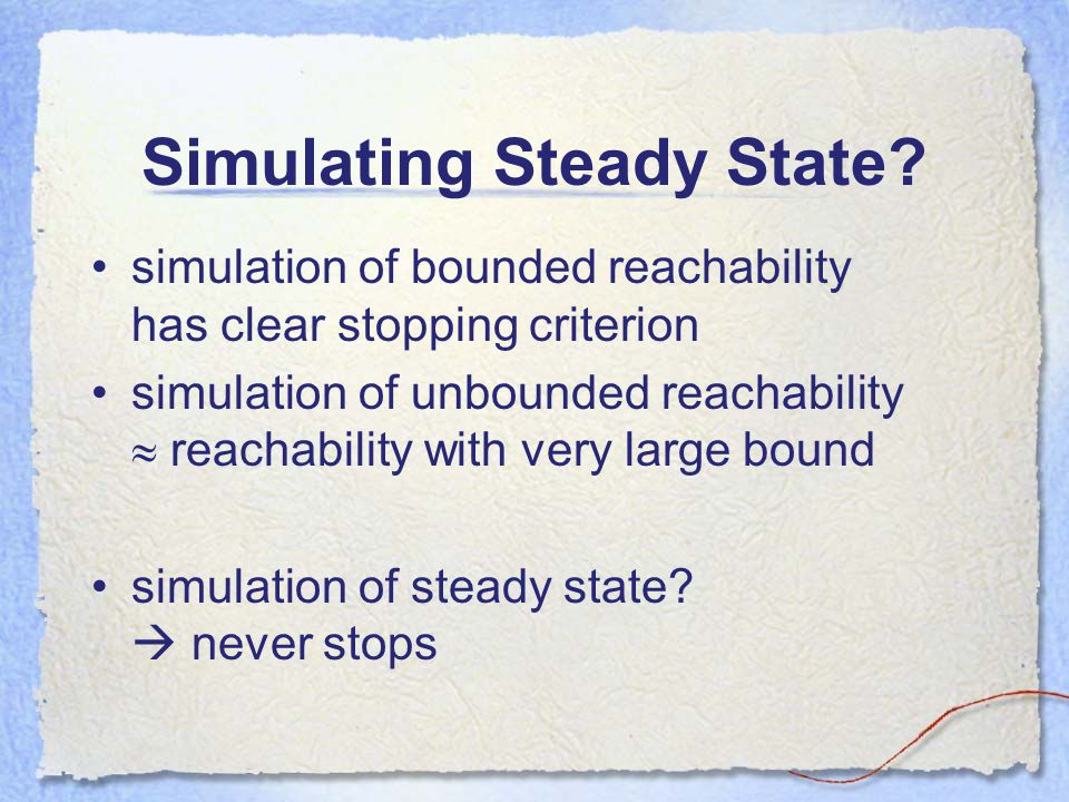 Simulating Steady State.