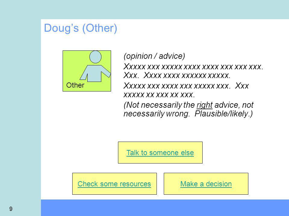 9 Doug's (Other) (opinion / advice) Xxxxx xxx xxxxx xxxx xxxx xxx xxx xxx.