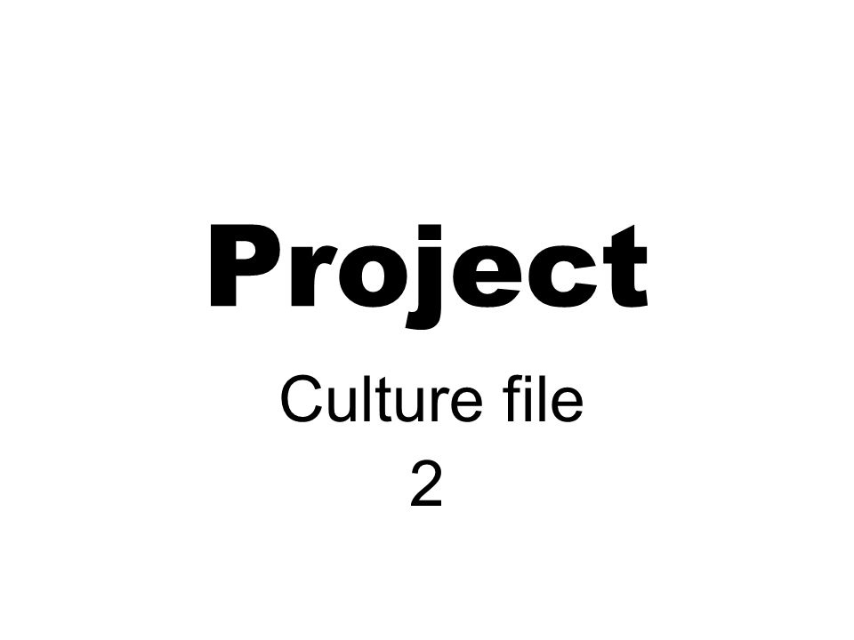 Project Culture file 2