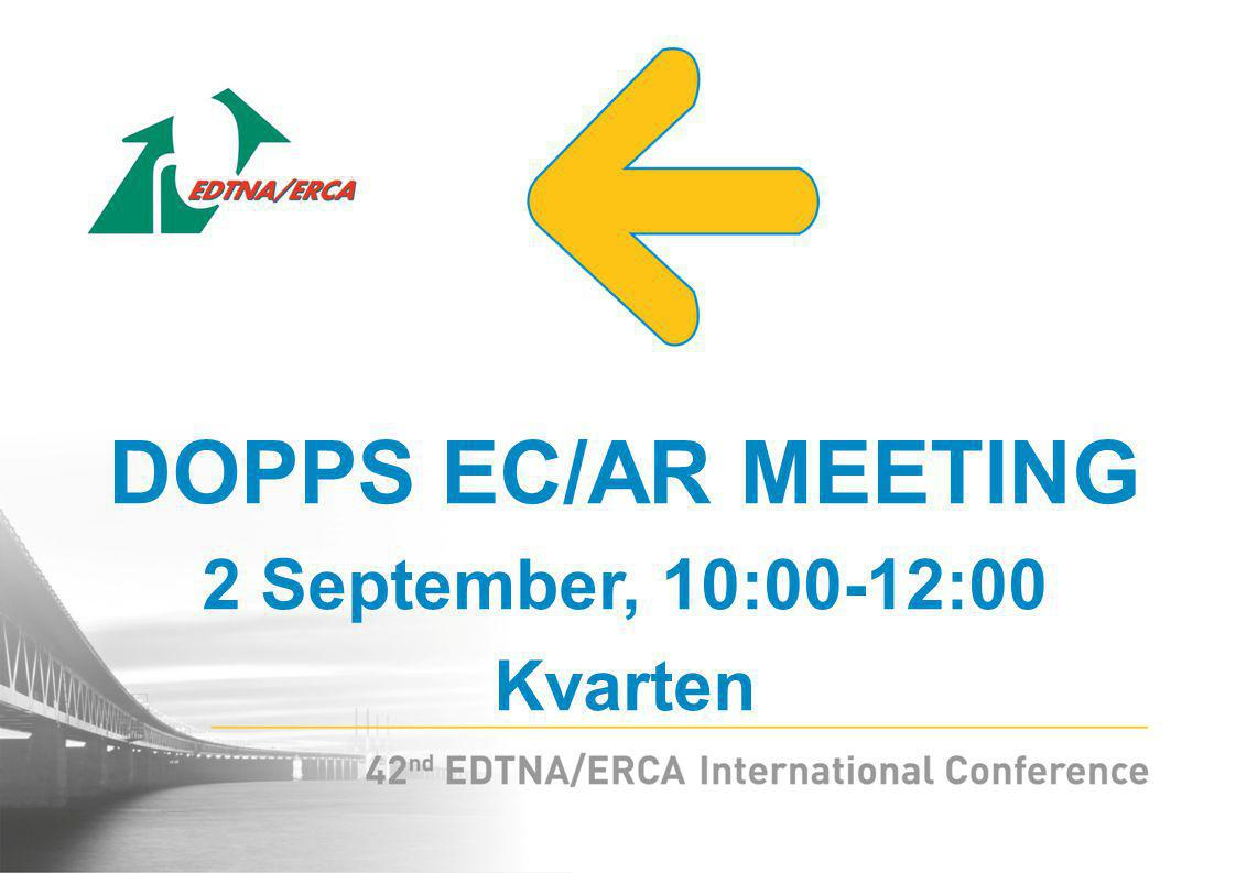 DOPPS EC/AR MEETING 2 September, 10:00-12:00 Kvarten