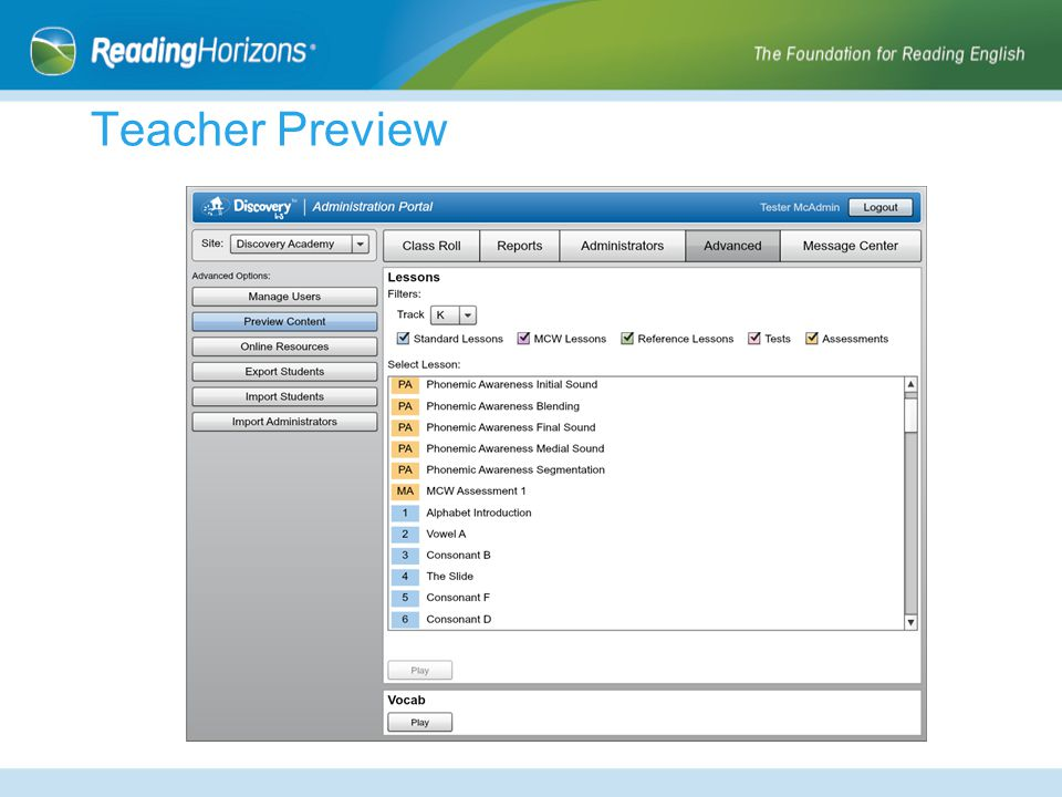 Teacher Preview