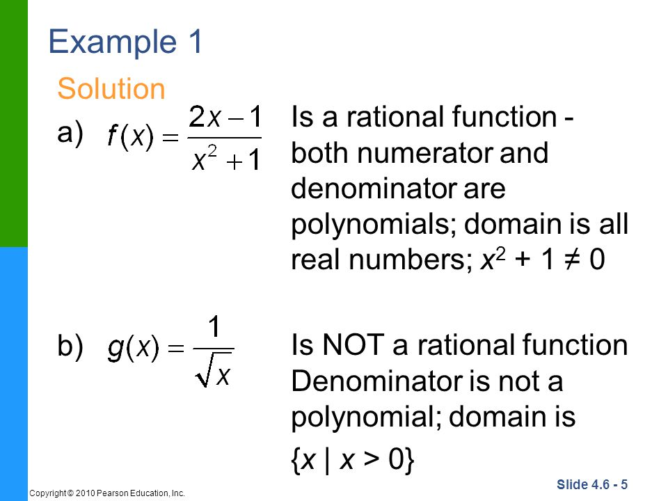Slide 4.6 - 36 Copyright © 2010 Pearson Education, Inc. Example 8 Solution continued STEP 7