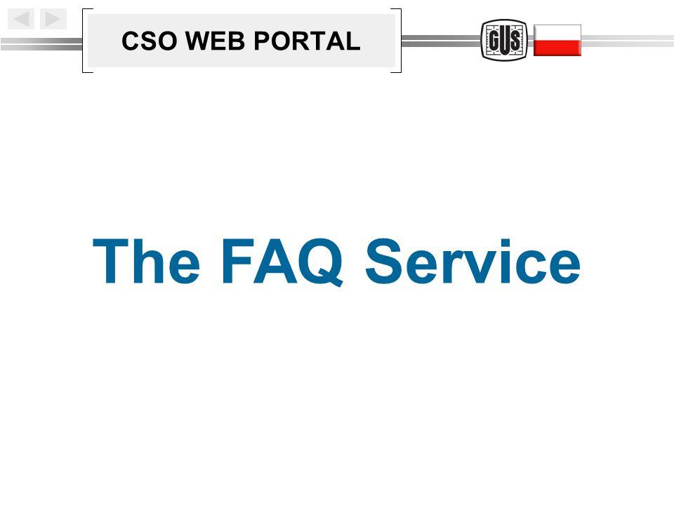 CSO WEB PORTAL The FAQ Service