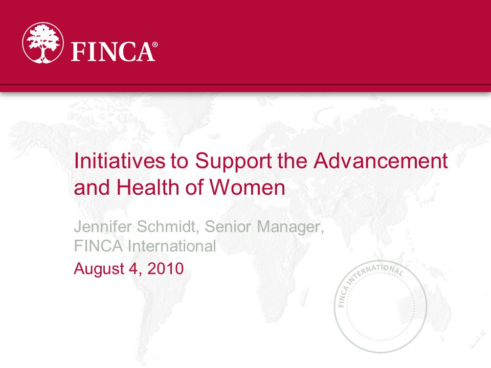 Microfinance and Women
