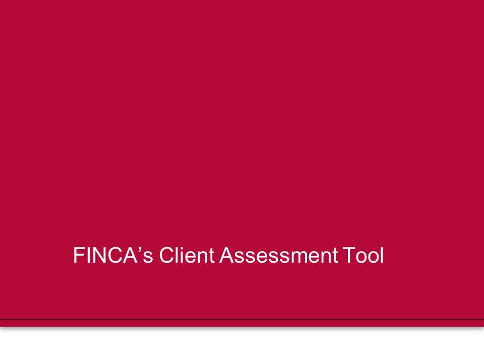 FINCA's Client Assessment Tool