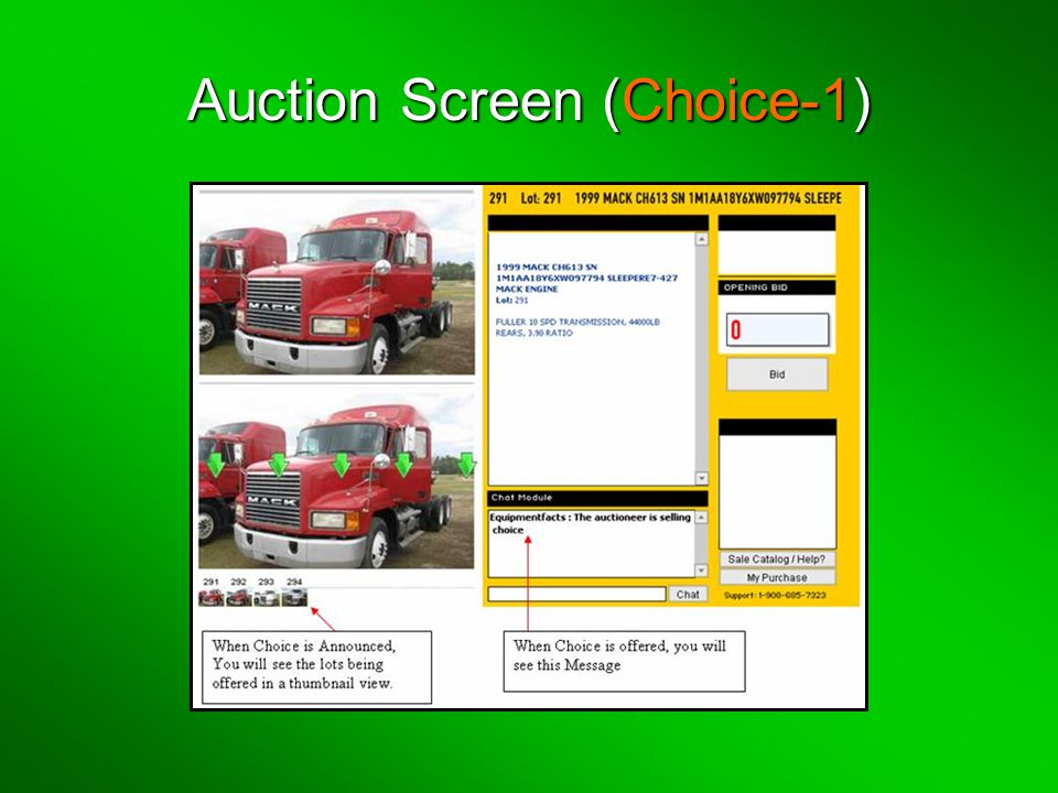 Auction Screen (Choice-1)