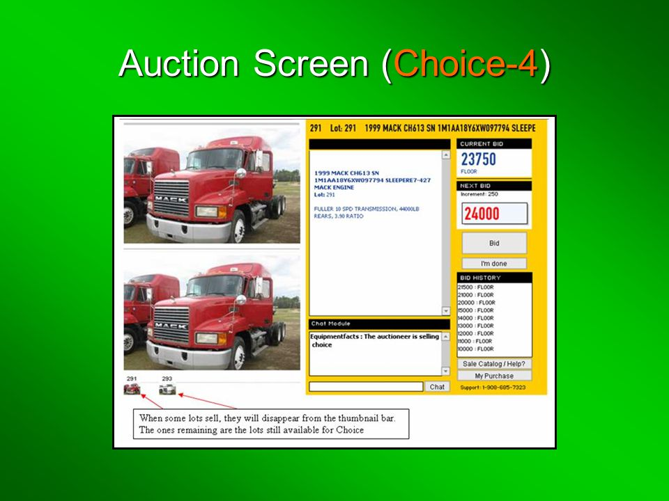 Auction Screen (Choice-4)