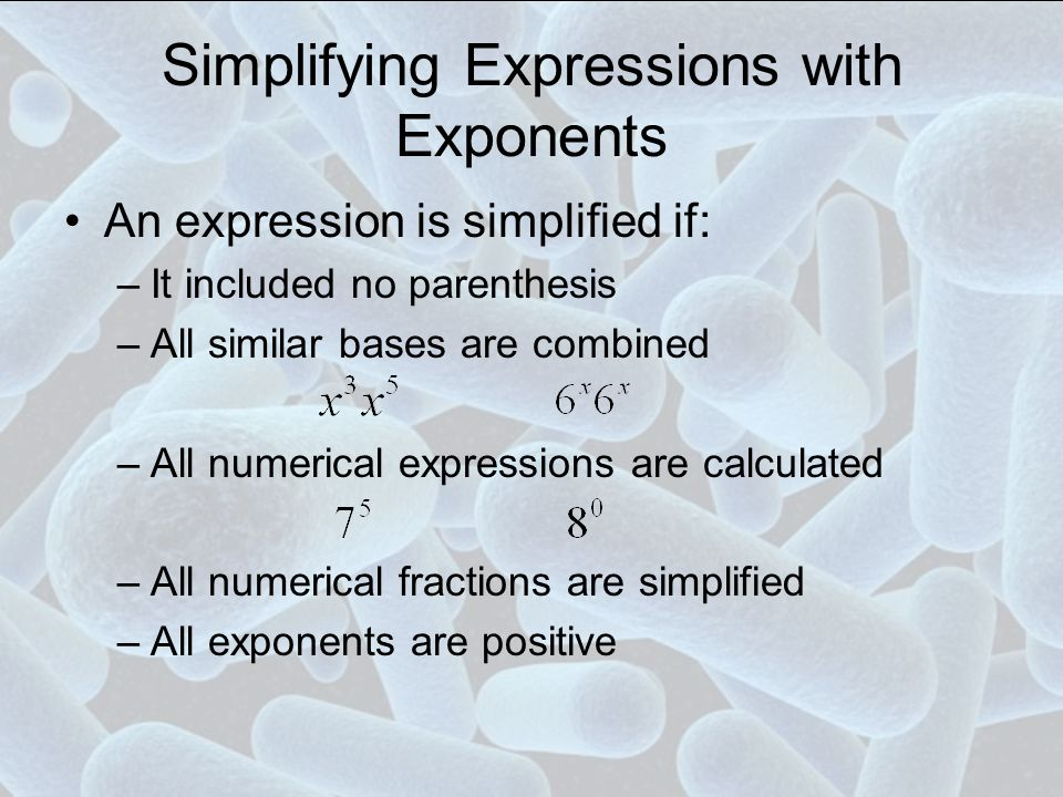 Order of Operations Parenthesis Exponents Multiplication Division Addition Subtraction