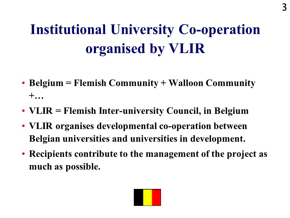 4 Tanzania-Belgium Co-operation: the programme and the project Co-operation programme started in 1997, between Belgian universities and Sokoine University for Agriculture = SUA, in Morogoro, Tanzania = 7 projects: 1 project is co-operation with Sokoine National Agricultural Library = the University Library of the Sokoine University for Agriculture1 project is co-operation with Sokoine National Agricultural Library = the University Library of the Sokoine University for Agriculture 1 project is co-operation with Sokoine National Agricultural Library = the University Library of the Sokoine University for Agriculture