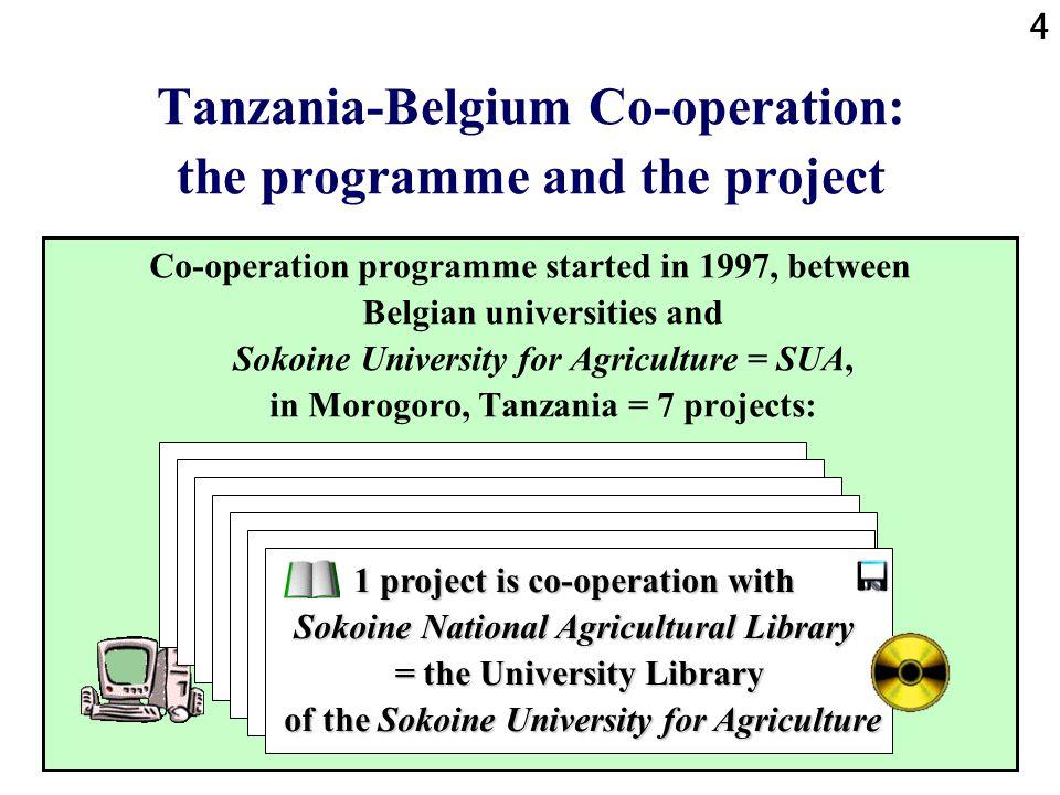 5 Tanzania-Belgium Co-operation: location of the university Morogoro is 200 km inland from Dar es Salaam at the coast.