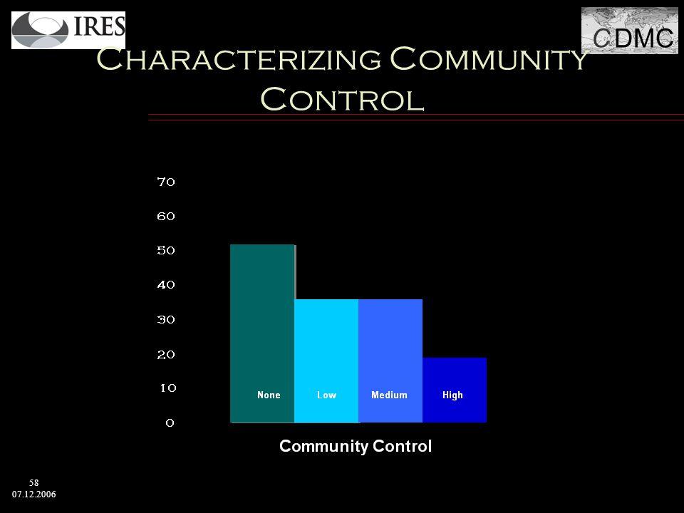 C DMC 58 07.12.2006 Characterizing Community Control