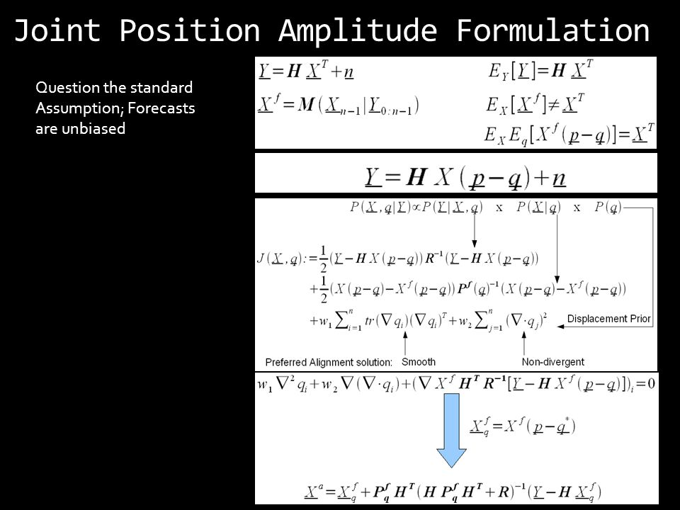 Joint Position Amplitude Formulation Question the standard Assumption; Forecasts are unbiased
