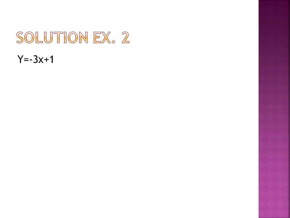 Y=-3x+1