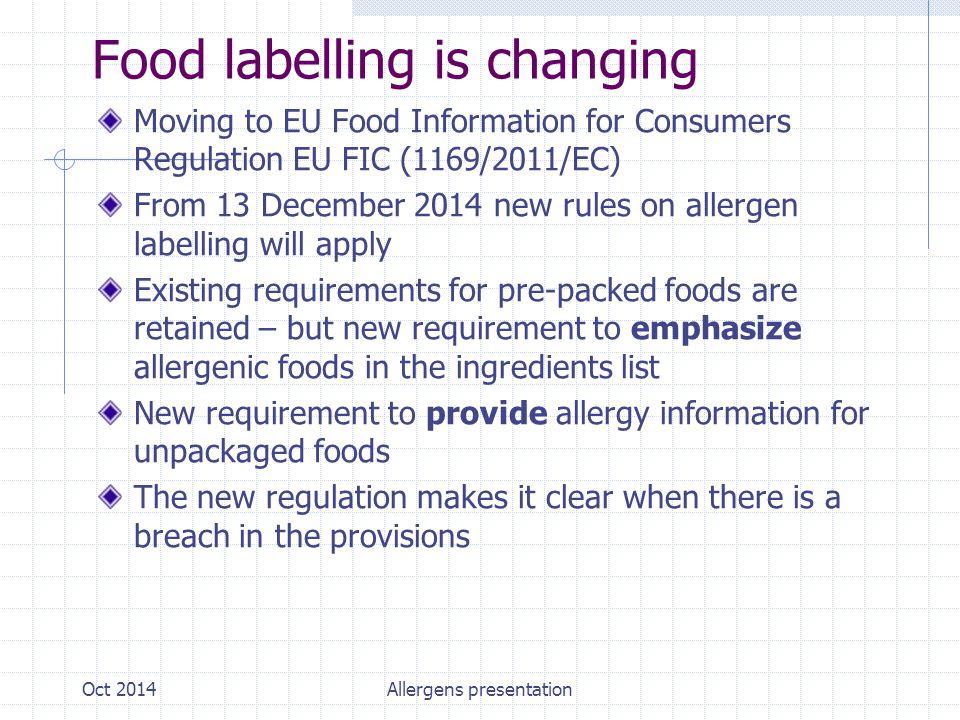 New Highlighted Label Oct 2014Allergens presentation
