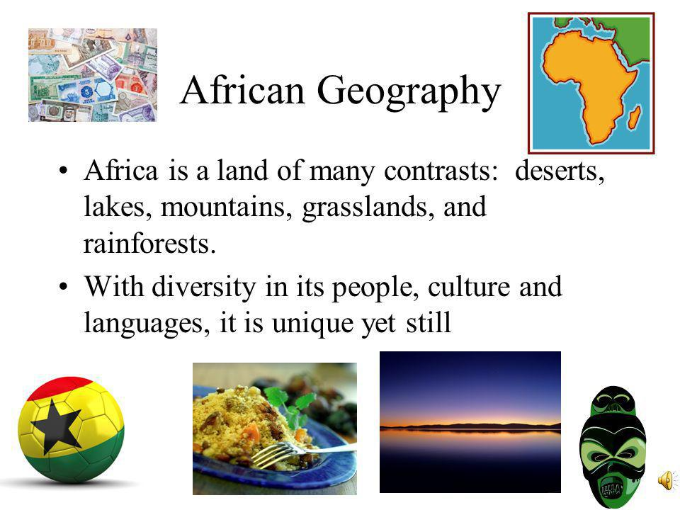 Georgia Performance Standards SS7G1 The student will locate selected features of Africa.