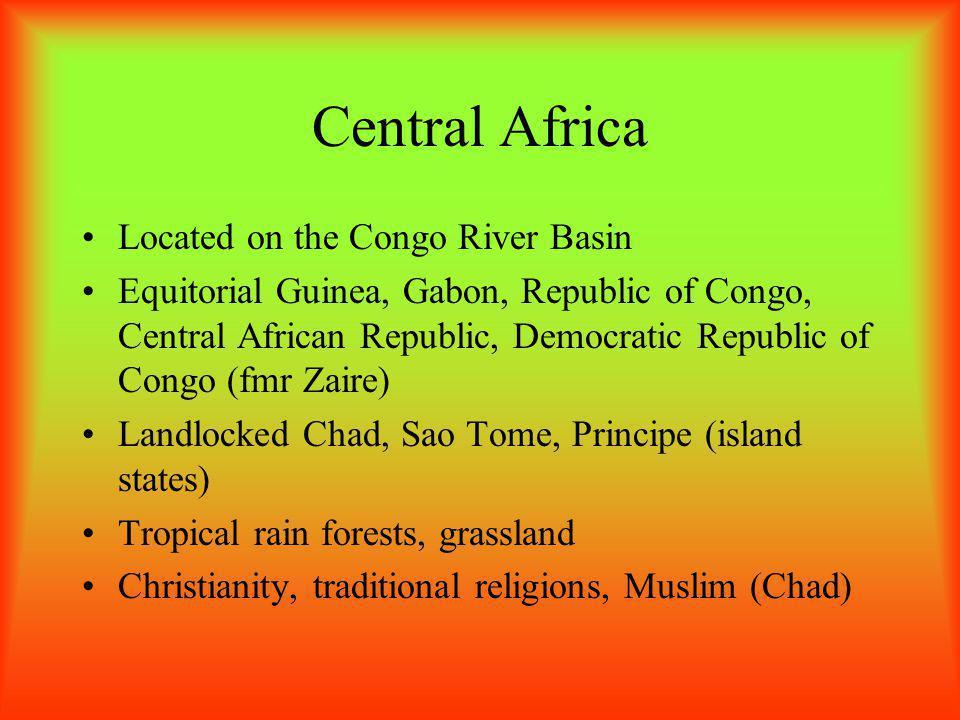 West Africa –Mauritania, Senegal, Gambia, Guinea-Bissau, Guinea, Sierra-Leone, Liberia, Cote d'Ivore, Ghana, Togo, Benin, Nigeria, and Cameroon along