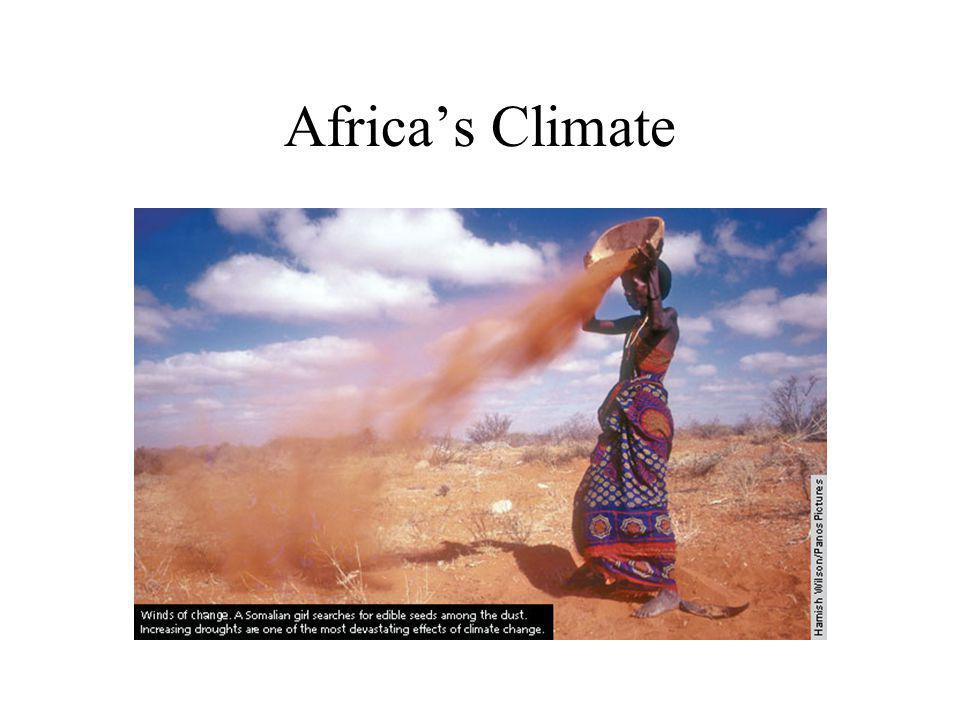 SS7G3 The student will explain the impact of location, climate, and physical characteristics on population distribution in Africa.