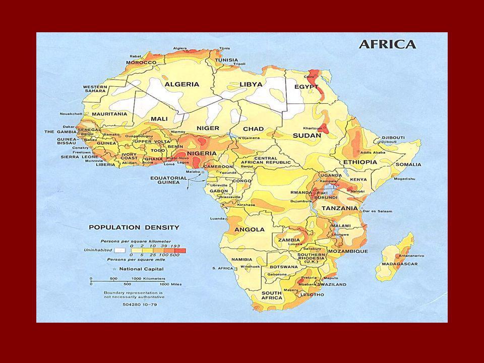 African Population http://na.unep.net/glob alpop/africa/Appendix _6e.htmlhttp://na.unep.net/glob alpop/africa/Appendix _6e.html Populations tend to li