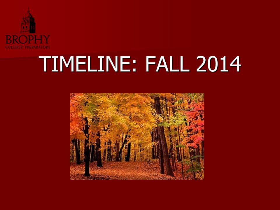 TIMELINE: FALL 2014