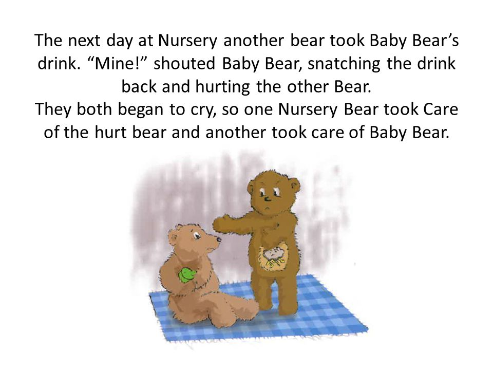 Then one day one of the Big Bears left the house for good. Baby Bear stayed living there with the other Big Bear and there were no more downstairs sto