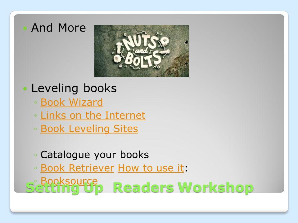 And More Leveling books ◦Book WizardBook Wizard ◦Links on the InternetLinks on the Internet ◦Book Leveling SitesBook Leveling Sites ◦Catalogue your bo