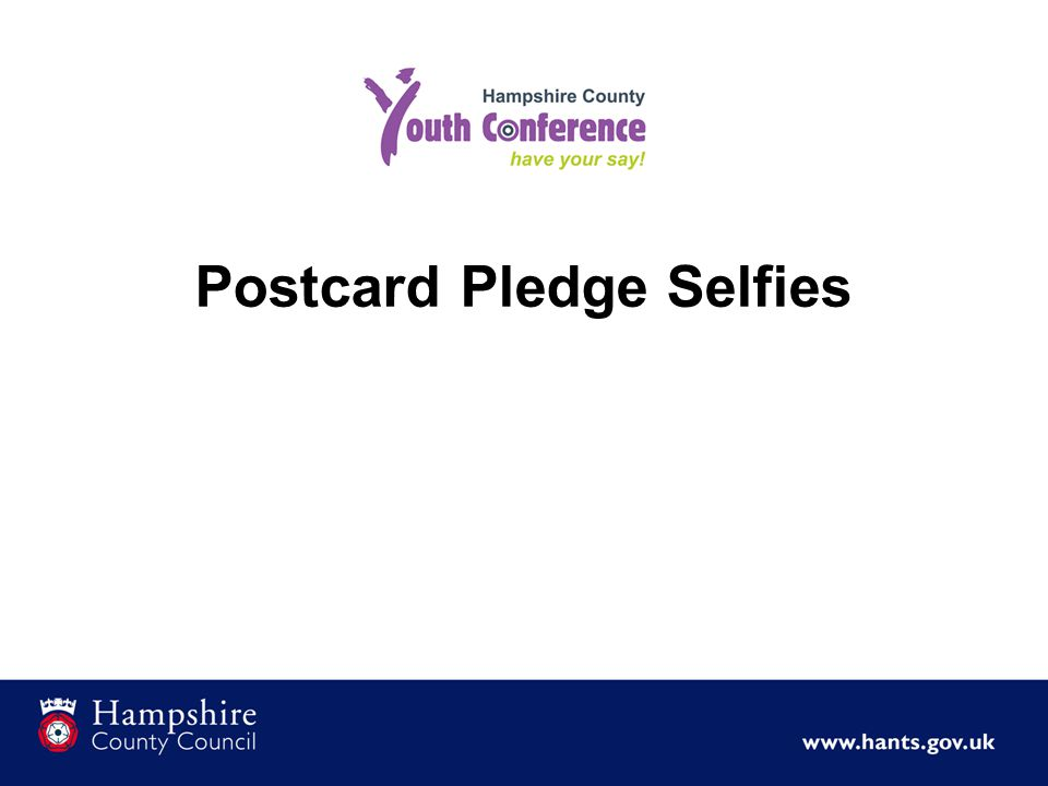 Postcard Pledge Selfies