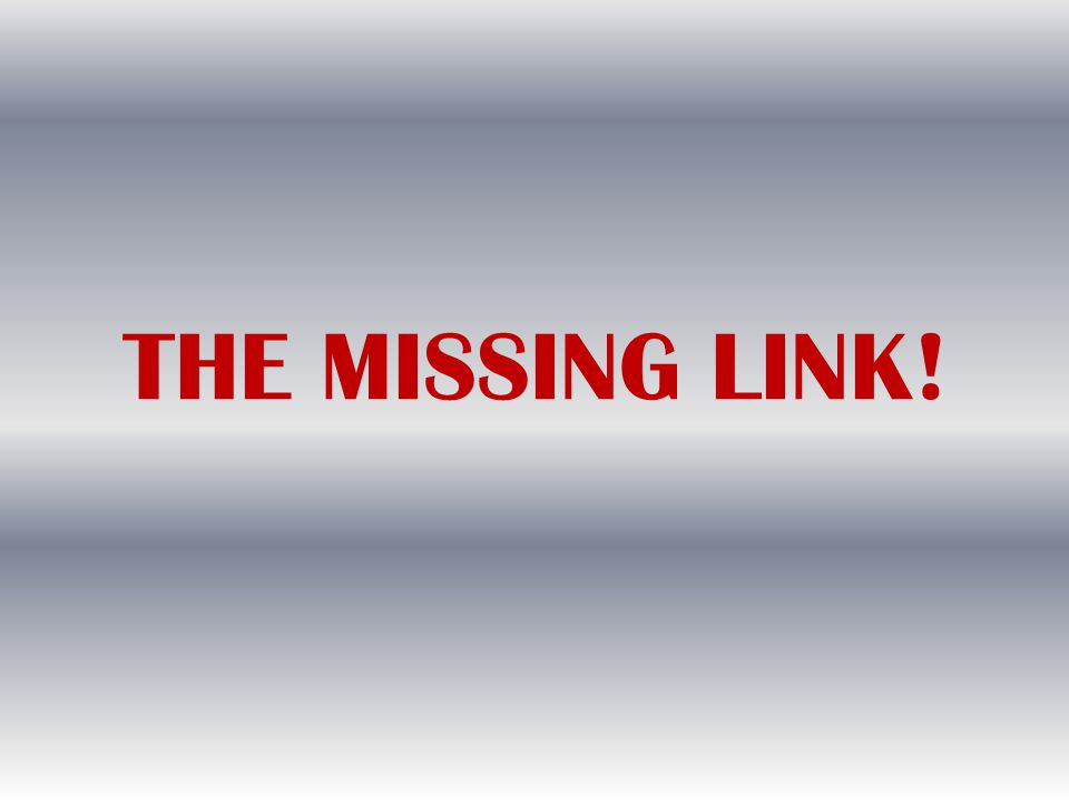 THE MISSING LINK!