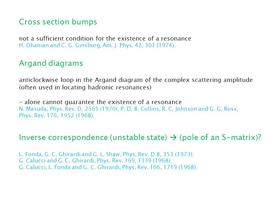 Cross section bumps not a sufficient condition for the existence of a resonance H.