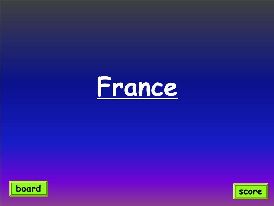 France score board
