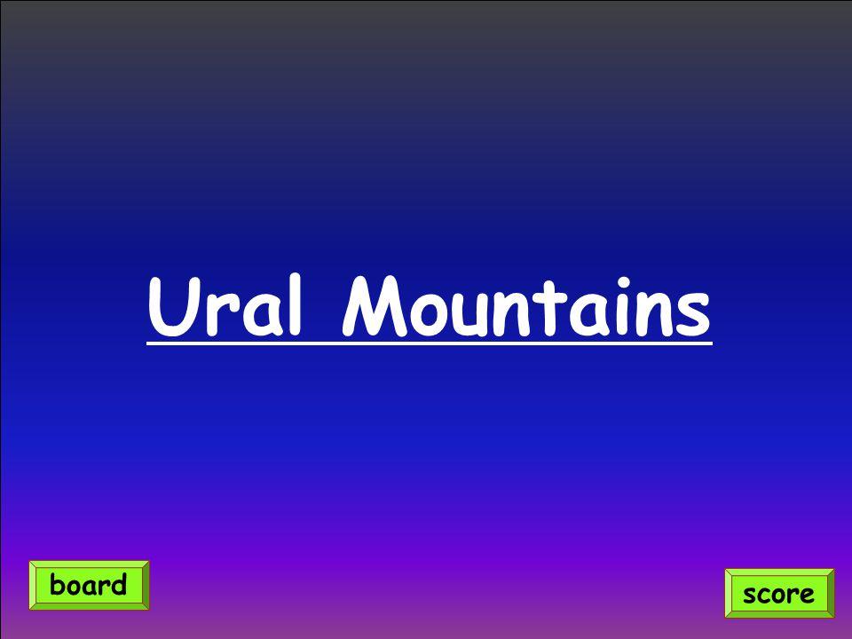 Ural Mountains score board