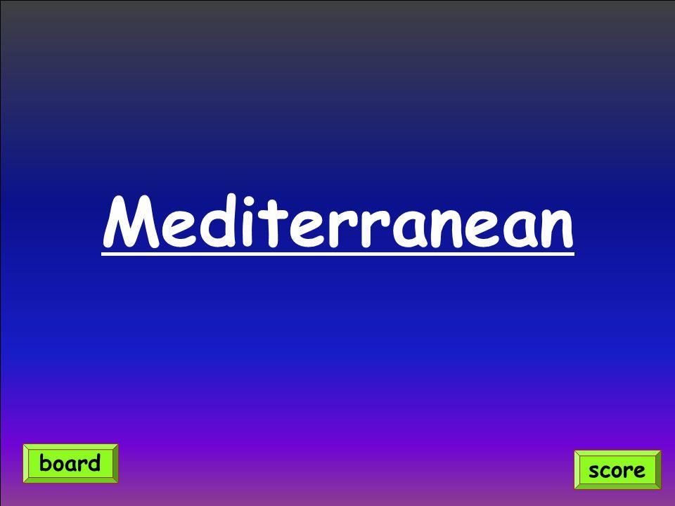Mediterranean score board