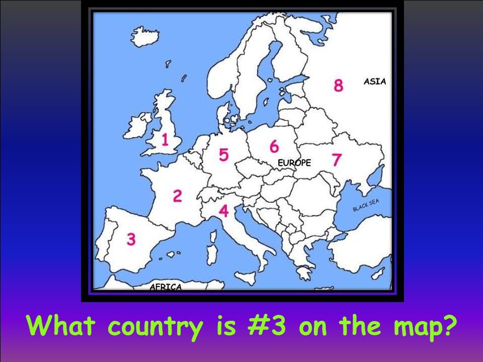 What country is #3 on the map