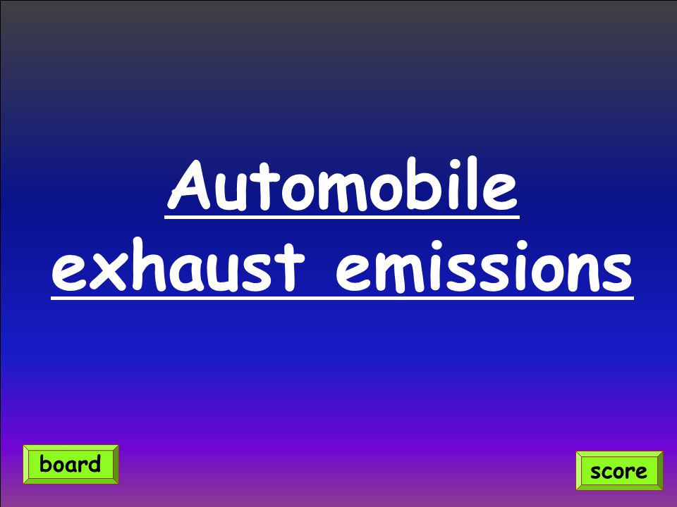 Automobile exhaust emissions score board