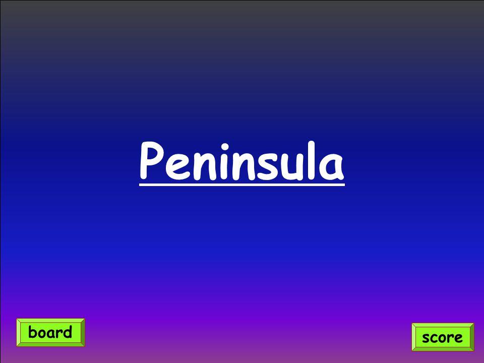 Peninsula score board