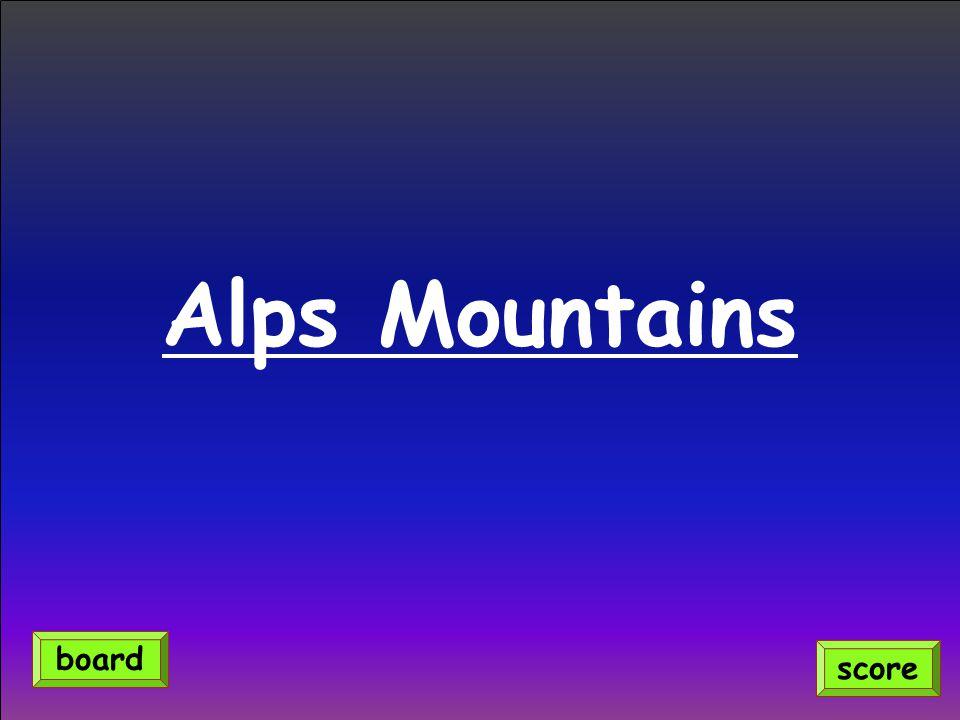 Alps Mountains score board