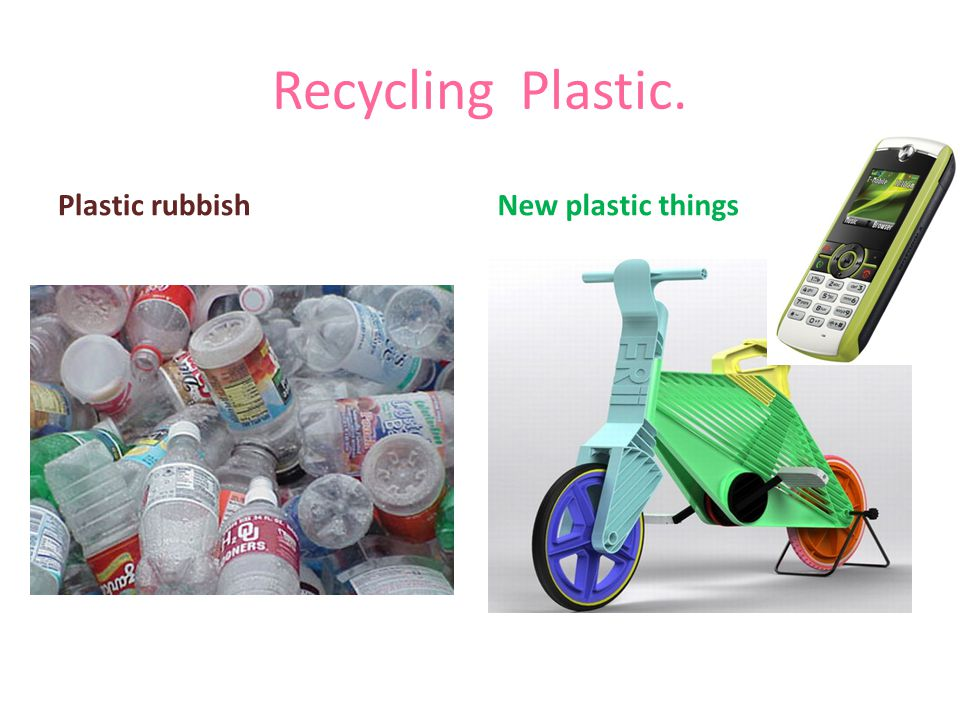 Recycling Plastic. Plastic rubbishNew plastic things