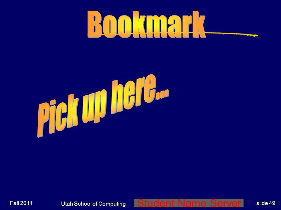 Utah School of Computing End D A Norman Notes End Lec Set 3