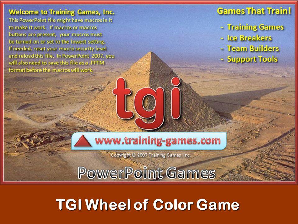 TGI Wheel of Color Game