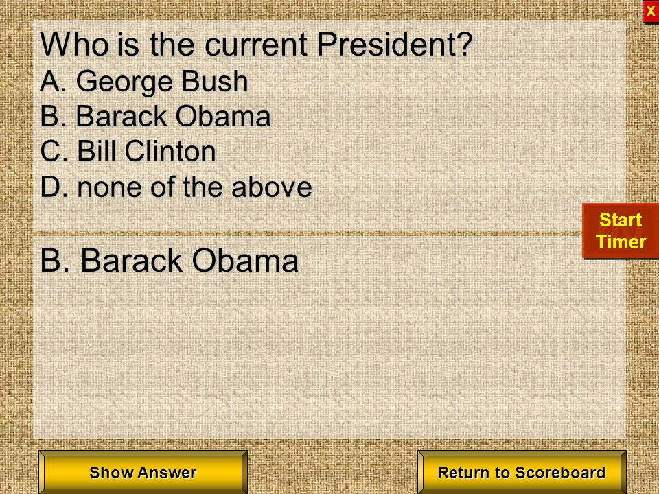 Who is the 16 th president of the United States. A.