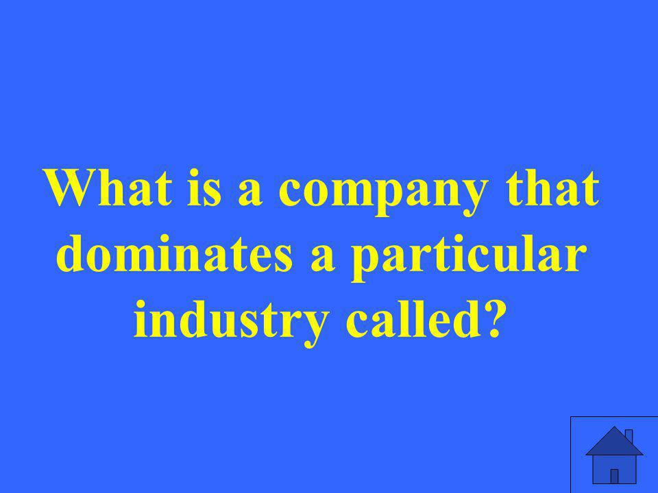 What is a company that dominates a particular industry called?