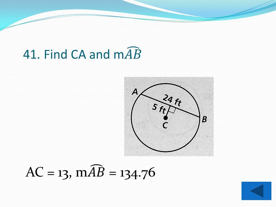 40. Find AZ. 12.26