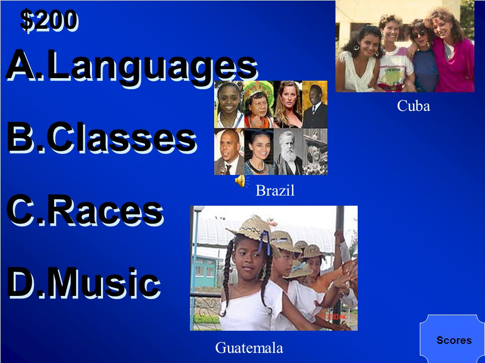 $200 What do the terms Peninsulars, Criollo (Creole), Indio, and Negro refer to in Latin America