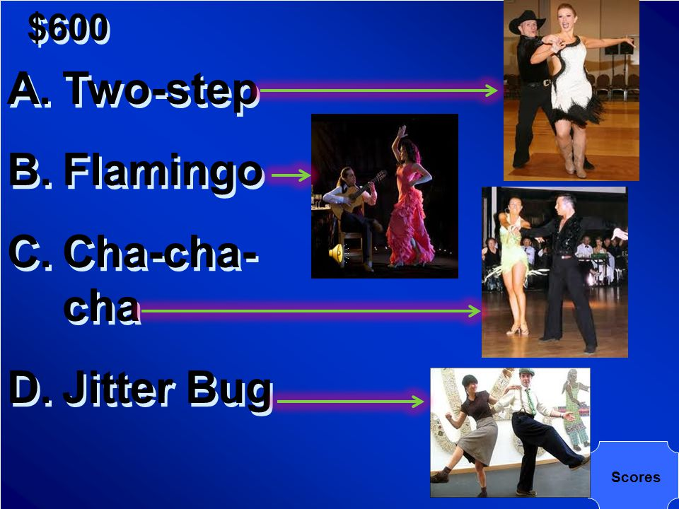 $600 Which of the following dances originated in Latin America
