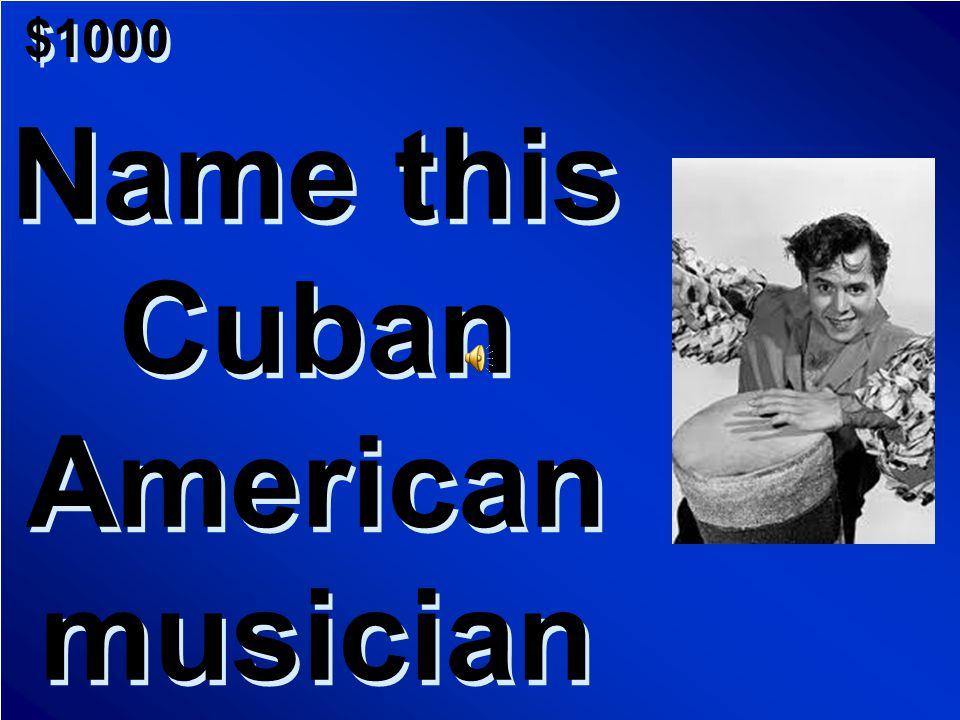 $800 A.Salsa B. Samba C.Marimba D. Bossa Nova A.Salsa B. Samba C.Marimba D. Bossa Nova Scores