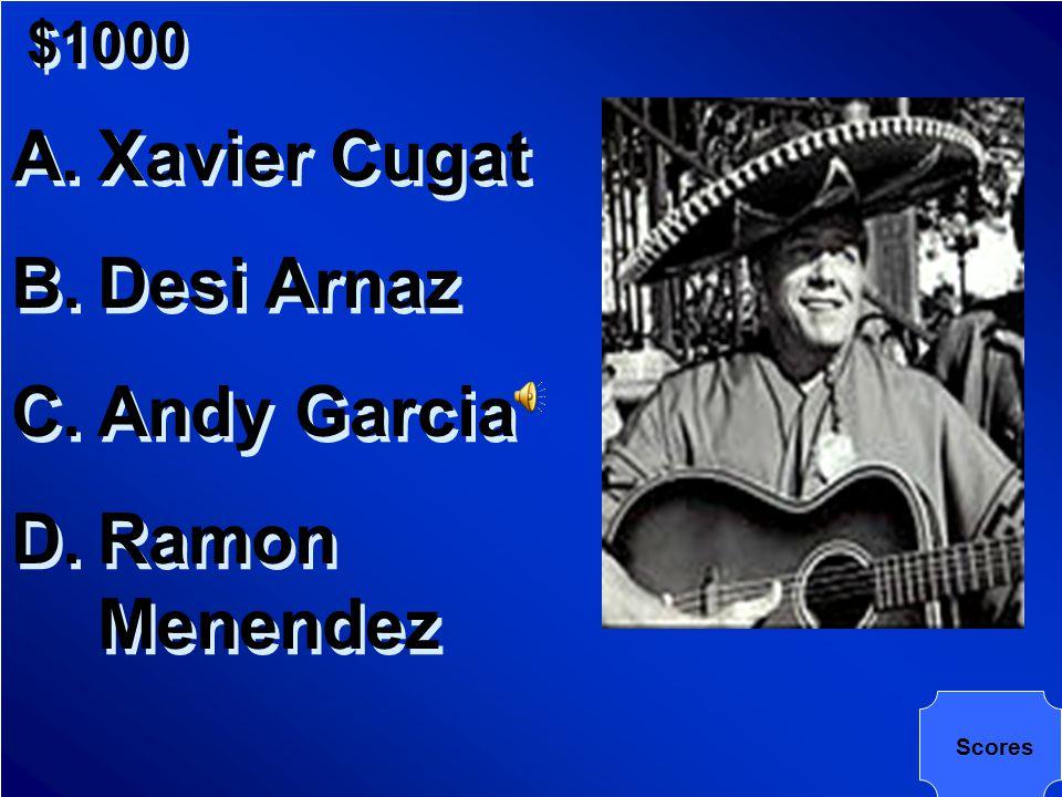 $1000 Name this Cuban American musician