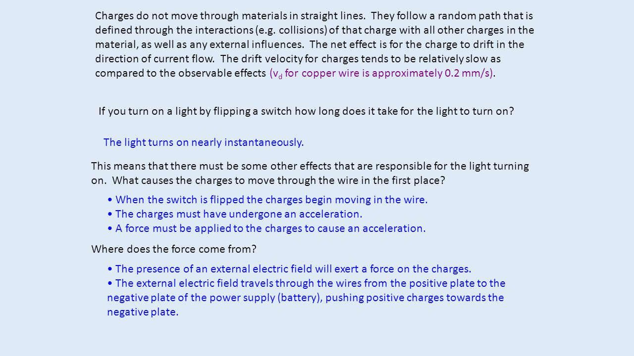 We should therefore be able to relate the electric field from the power supply to the current in the wires.