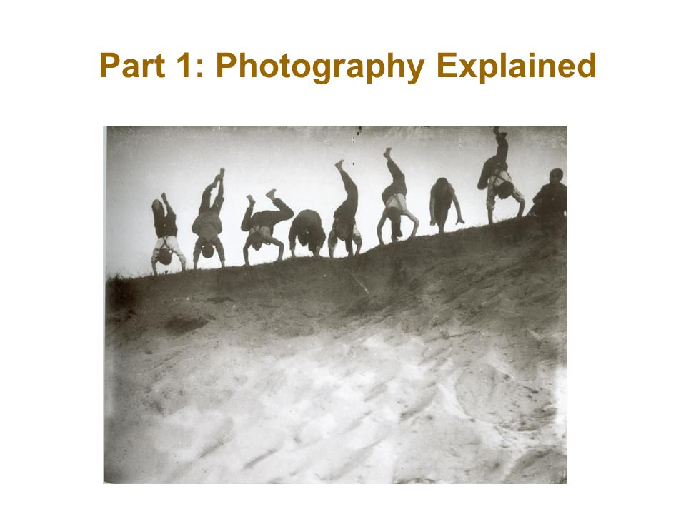 The word photography derives from two Greek words....