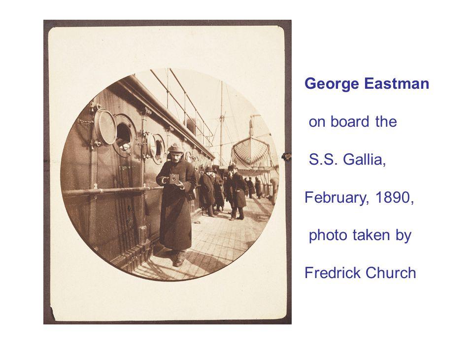 George Eastman on board the S.S. Gallia, February, 1890, photo taken by Fredrick Church